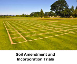 soil amendement and incorporation trials